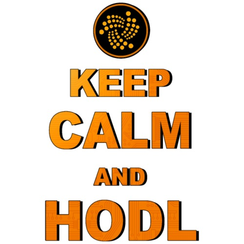 IOTA -keep calm and HODL - Männer Premium T-Shirt