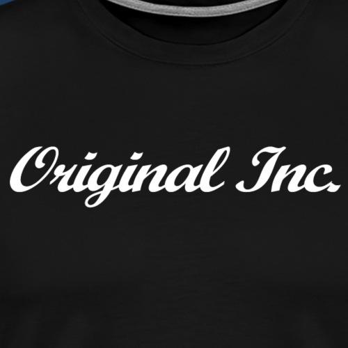 Texte Logo blanc - T-shirt Premium Homme