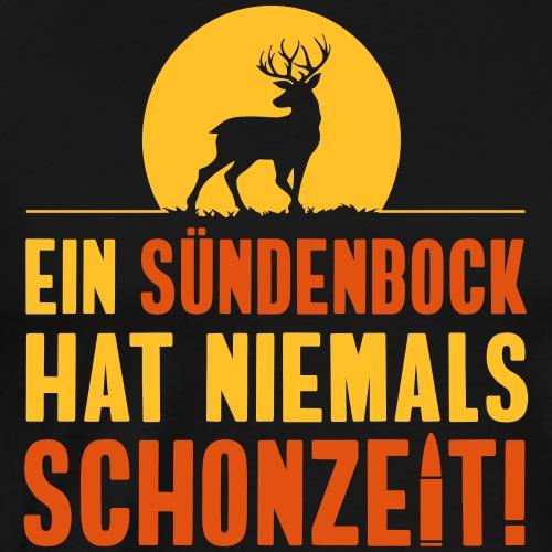 Ein Sünden-Bock hat niemals Schonzeit! Jäger Shirt - Männer Premium T-Shirt