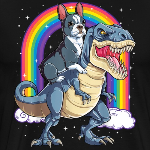 Bulldog and T-rex - Mannen Premium T-shirt