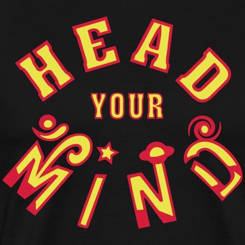 Testa la tua mente - Maglietta Premium da uomo