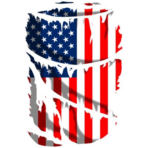 Bandera de Estados Unidos de América rota - Camiseta premium hombre