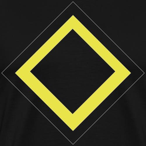 Vierecke auf der Brust - Männer Premium T-Shirt