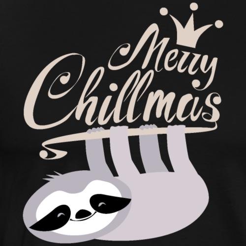Faultier Christmas - Merry Chillmas Sloth - Männer Premium T-Shirt