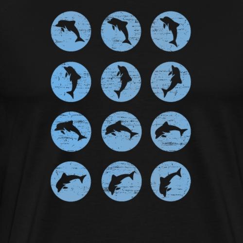 Delfine im Wasser - Männer Premium T-Shirt