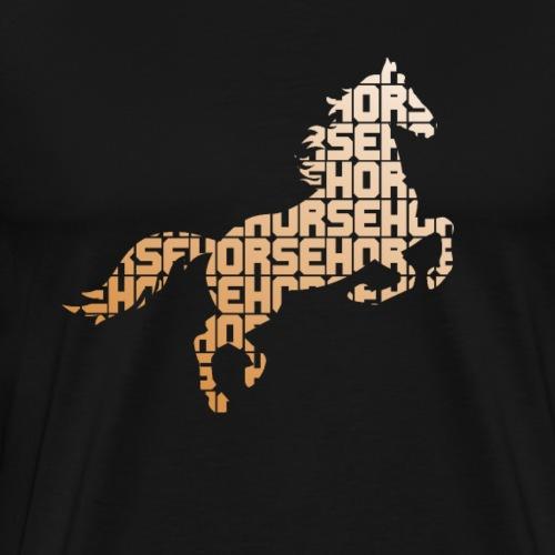 Pferd aus Buchstaben - Männer Premium T-Shirt