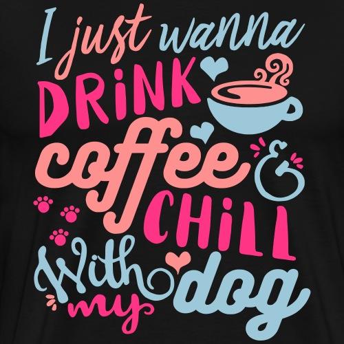 coffeedogcolor3333 - Men's Premium T-Shirt