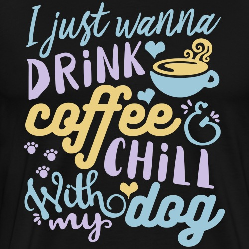 Coffee Dog - Men's Premium T-Shirt