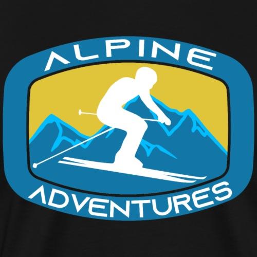 alpine Adventures, Ski, Snowboard, Extremsport - Männer Premium T-Shirt