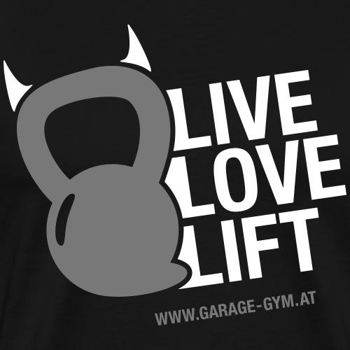 livelovelift2 - Männer Premium T-Shirt