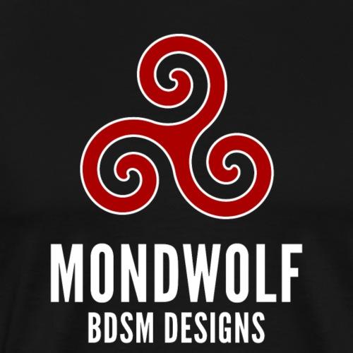 """Mondwolf BDSM Designs"" – dunkle Textilien - Männer Premium T-Shirt"