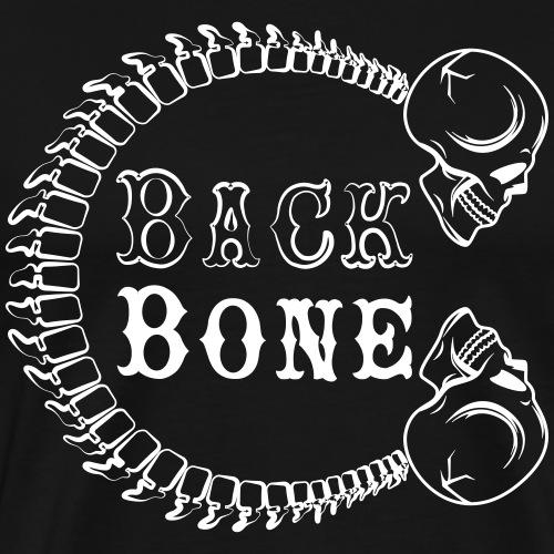 logo BlackBone blanc - T-shirt Premium Homme