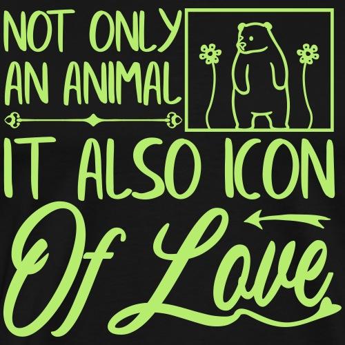 Icon of Love, Bären Design - Männer Premium T-Shirt