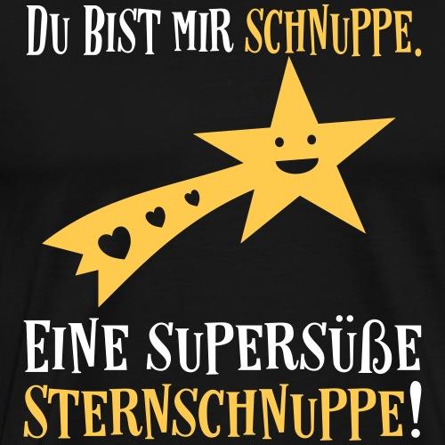 Liebe Valentinstag Partner Sprüche - Sternschnuppe - Männer Premium T-Shirt