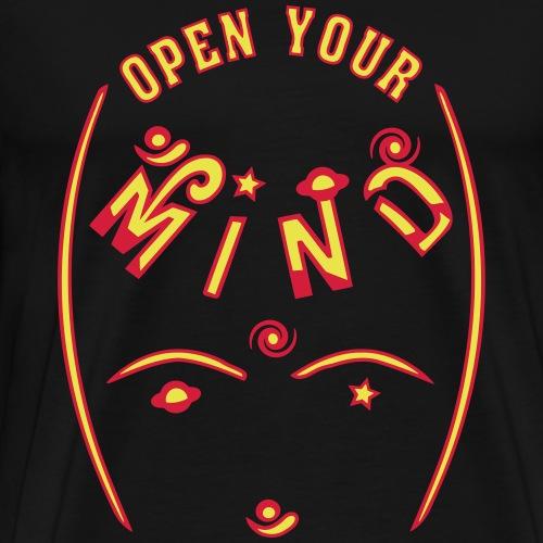 Åben dit sind - Herre premium T-shirt