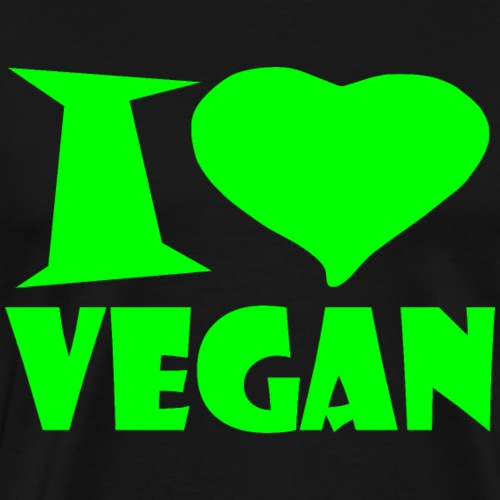 I love vegan - Men's Premium T-Shirt