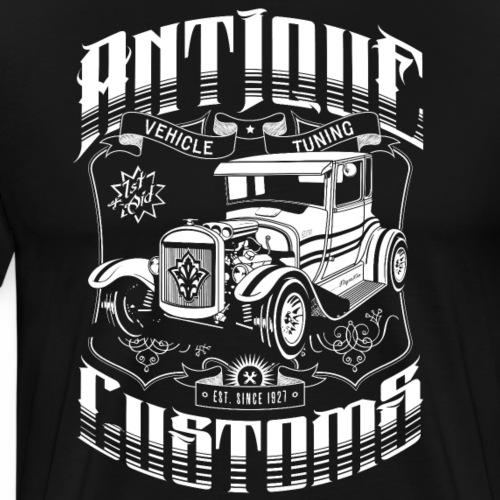 Hot Rod - Antique Customs (white) - Men's Premium T-Shirt