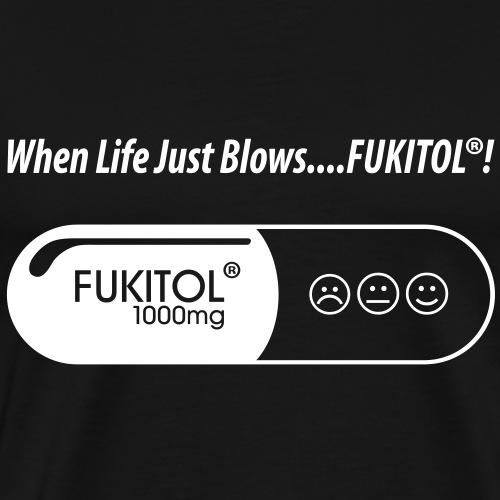 T-shirt, FUKITOL - When life just blows... - Premium-T-shirt herr