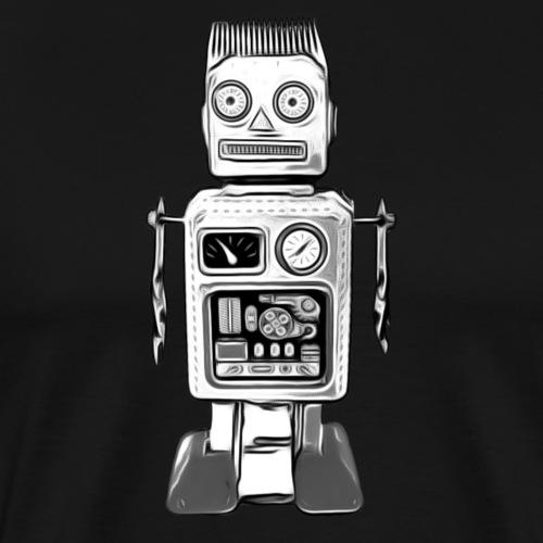 Roboter Bot Scifi T-Shirt vintage Geschenkidee - Männer Premium T-Shirt