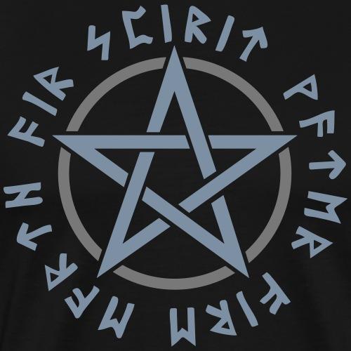 Pentagramm, Elemente, Runen, Magie, Symbol, Stern - Männer Premium T-Shirt
