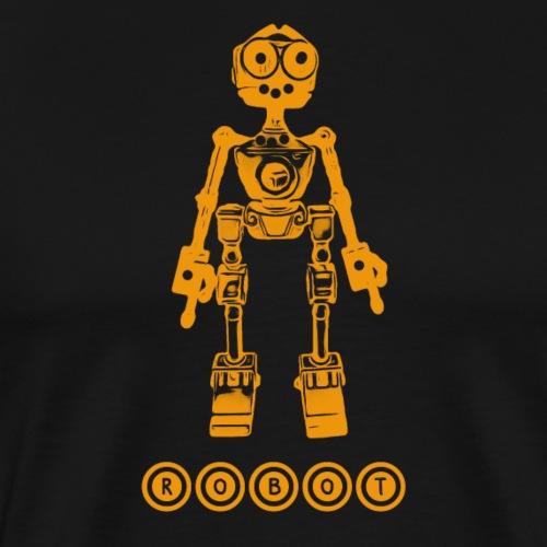 Retro Vintage Robot T-Shirt lustige Geschnkidee - Männer Premium T-Shirt