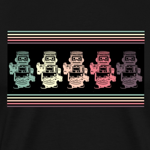 Cooles Robototer Vintage Gamer T-Shirt - Männer Premium T-Shirt