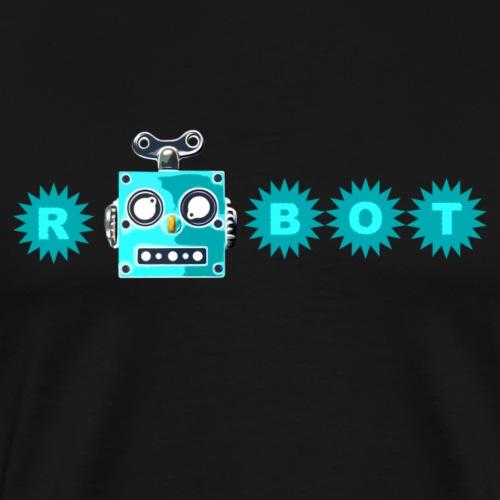Cooles retro Sci-Fi T-Shirt mit vintage Roboboter - Männer Premium T-Shirt