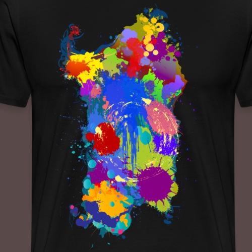 Sardegna Silhouette Paint - Maglietta Premium da uomo