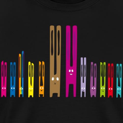 Lang ohr hasen Familie kaninchen häschen osterhase - Männer Premium T-Shirt