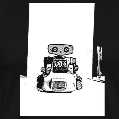 Vintage Retro Roboter Bot Robot Scifi T-Shirt - Männer Premium T-Shirt