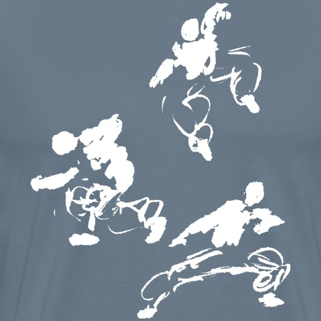 Kung fu circle / ink fighter in motion
