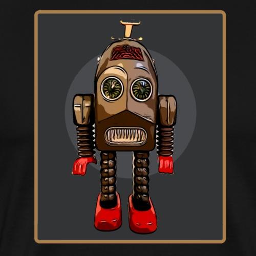 Vintage Roboter Sci-fi T-Shirt Robot Geschenkidee - Männer Premium T-Shirt
