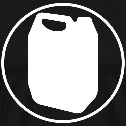 Logo vit - Premium-T-shirt herr