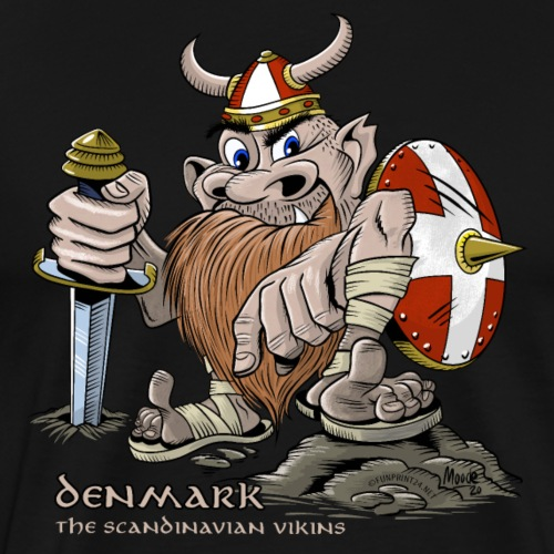 DENMARK ACTION COOL VIKING T SHIRTS AND PRODUCTS - Miesten premium t-paita