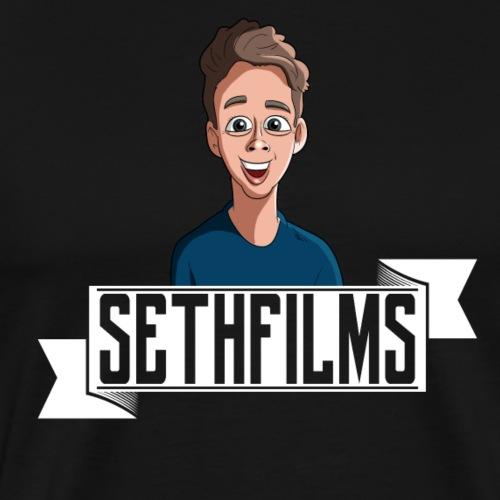 SETHFILMS WHITE png - Men's Premium T-Shirt