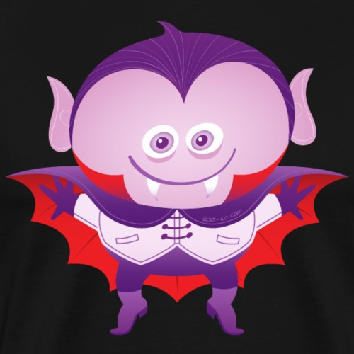 Funny boy wearing a Halloween Dracula costume - Men's Premium T-Shirt
