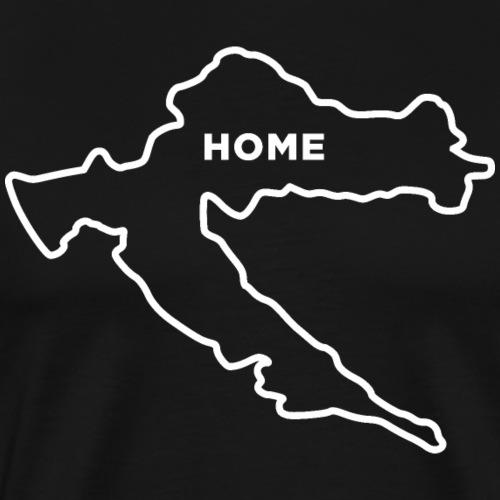 Croatia Home Hrvatska Domovina Kroatien Zuhause - Männer Premium T-Shirt