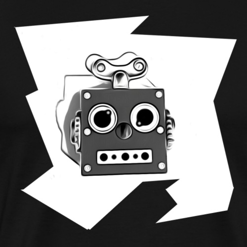 Cooles lustiges Sci-Fi T-Shirt mit vintage Robobot - Männer Premium T-Shirt