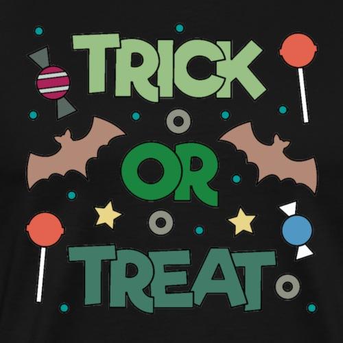 Süßes oder Saures, Halloween, Fledermaus - Männer Premium T-Shirt