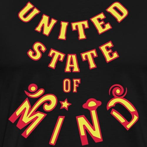 Verenigde staat van geest - Mannen Premium T-shirt