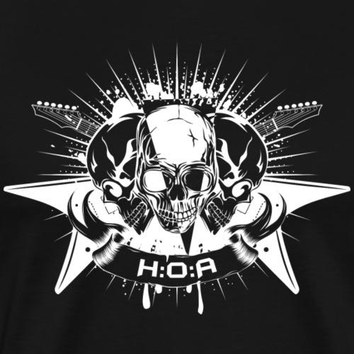 H:O:A Logo White - Männer Premium T-Shirt