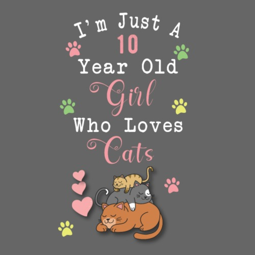 I'm just a 10 year old girl who loves cats - T-shirt Premium Homme