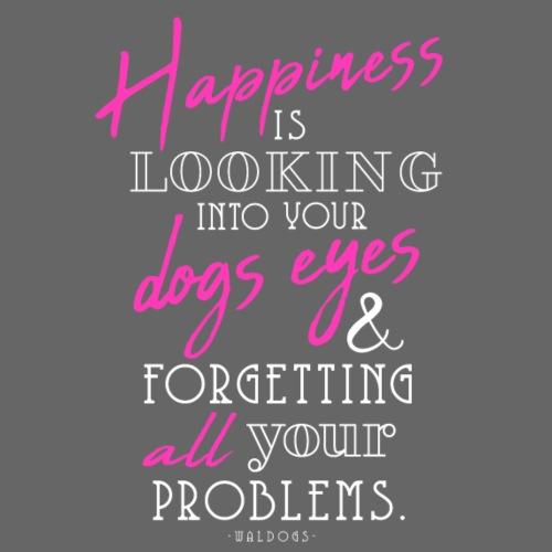 Happiness is Dogs - I - Miesten premium t-paita