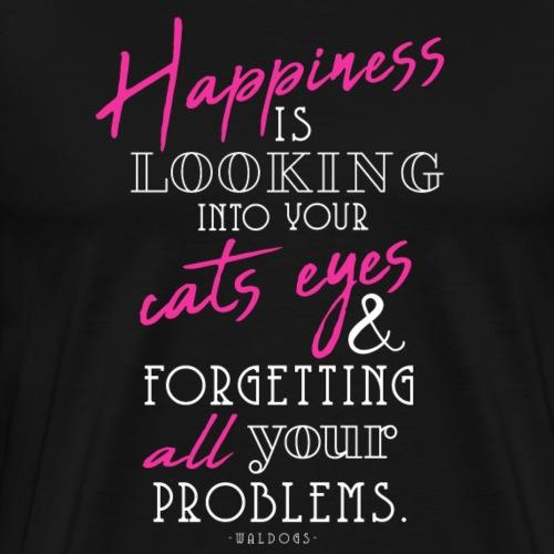Happiness is Cats - I - Miesten premium t-paita