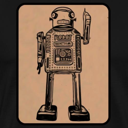 Vintage Roboter Robot T-Shirt Geschenkidee Retro - Männer Premium T-Shirt