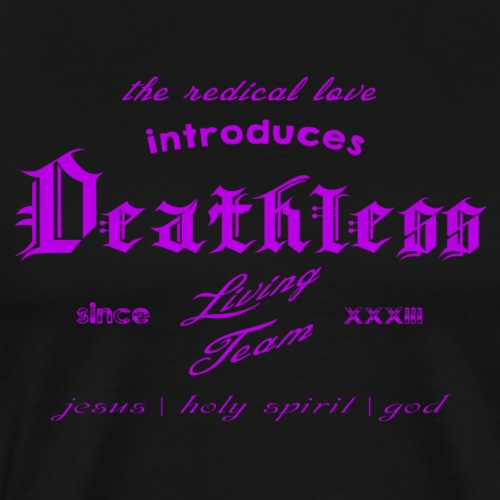 deathless living team violet - Männer Premium T-Shirt