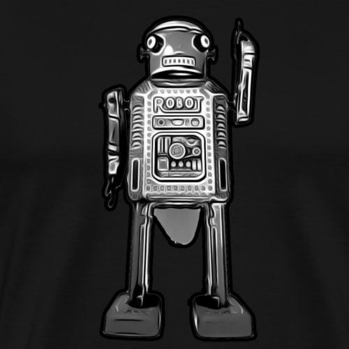 Cooles Vintage Roboter Sci-fi T-Shirt Geschenkidee - Männer Premium T-Shirt