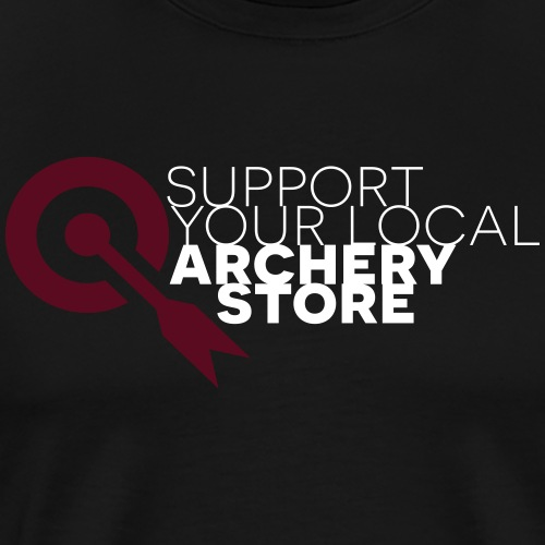 Support your local archery store (by BOWTIQUE) - Männer Premium T-Shirt