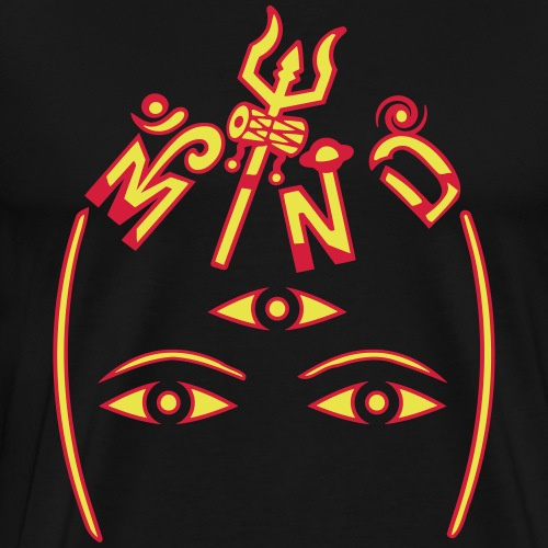 Shivan mieli - Miesten premium t-paita