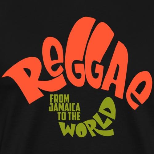 Reggae From Jamaica To The World - Männer Premium T-Shirt